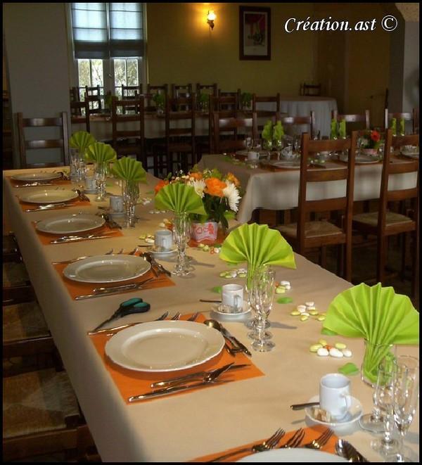 Mes creations decor de table for Deco de table orange
