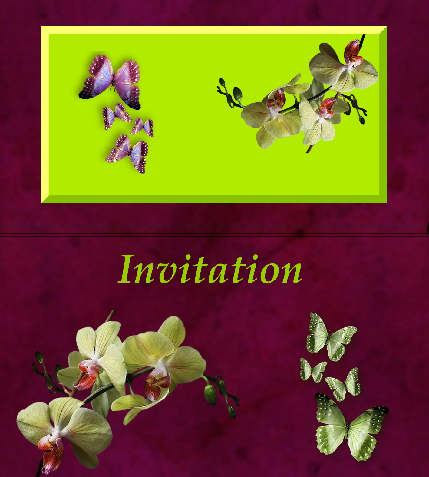 mes creations invitation. Black Bedroom Furniture Sets. Home Design Ideas